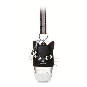 Black Cat Lanyard Light-up Pocketbac Gel Holder